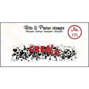 CLBP171 clearstamp bits&pieces no.171 Grunge hartjes