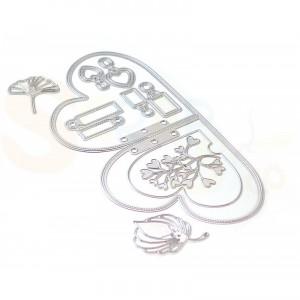 Elizabeth Craft Designs, Planner Essential 1743, Dies 25 Double heart insert