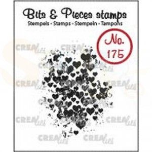 CLBP175 clearstamp bits&pieces no.175 Grunge hartjes