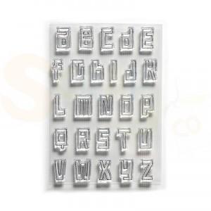 Elizabeth Craft Designs, clearstamp CS178, Block Alphabet