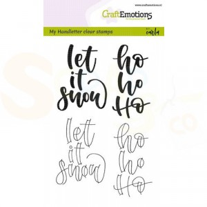 130501/1811 clearstamp CE, handletter, Let it snow