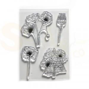 Elizabeth Craft Designs, clearstamp CS182, Poppy Dream