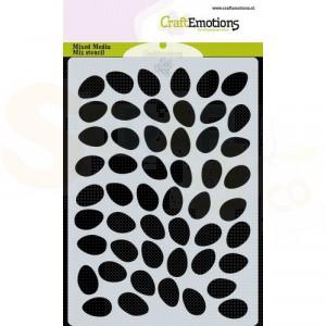 CraftEmotions Mask stencil A6, achtergrond eieren 185070/0123