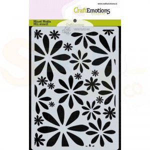 CraftEmotions Mask stencil A6, Bugs & Flowers - bloemen 185070/0146