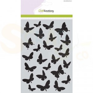 CraftEmotions Mask stencil, butterflies 185070/1108