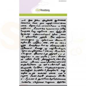 CraftEmotions Mask stencil, achtergrond met tekst 185070/1124