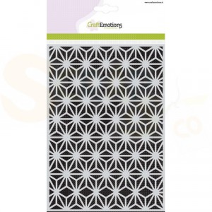 CraftEmotions Mask stencil, triangle flower 185070/1241