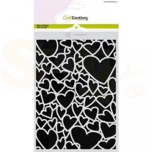 CraftEmotions Mask stencil A5, Love puns - harten 185070/1271