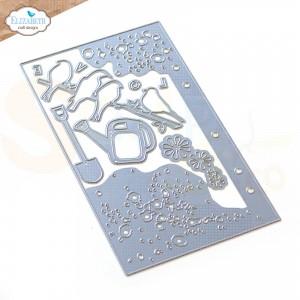 Elizabeth Craft Designs, Planner Essential 1864 dies 38, Birds on splatter page