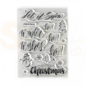 Elizabeth Craft Designs, clearstamp CS188, Snow