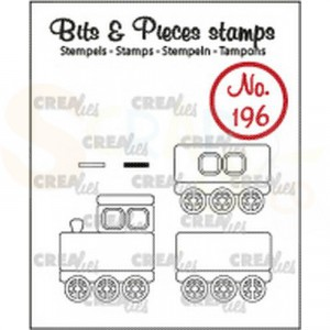 CLBP196 clearstamp bits&pieces no. 196 trein + wagons
