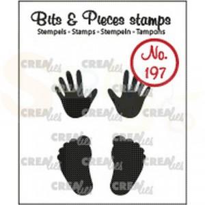 CLBP197 clearstamp bits&pieces no. 197 Baby handjes/voetjes (dicht)