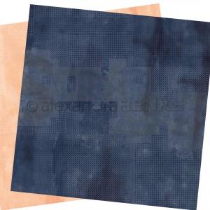 Alexandra Renke, designpapier 20.013 Calm dark marine and pastel