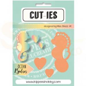 Cut-ies Ocean babies, seahorse - hearts 20068