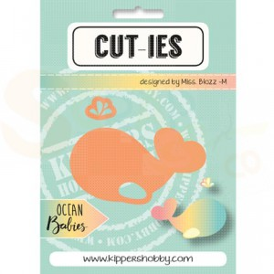 Cut-ies Ocean babies, whale - spray 20070