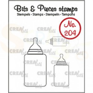 CLBP204 clearstamp bits&pieces no. 204 3x Zuigfles