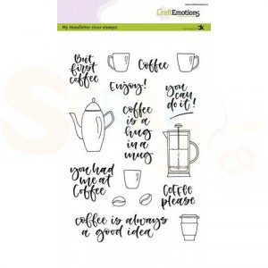 130501/2111, CraftEmotions clearstamp, Coffee Please
