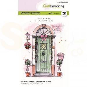 130501/2301, CraftEmotions clearstamp, Oude deur met toog