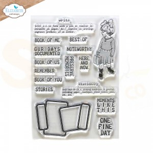 Elizabeth Craft Designs, clearstamp CS231, Noteworthy