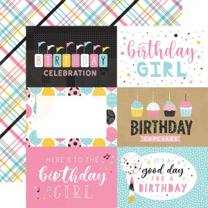 Echo Park Paper, Magical Birthday Girl MBG2319, 6x4 Journaling cards