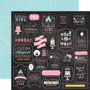 Echo Park Paper, Magical Birthday Girl MBG2322, Make a Wish