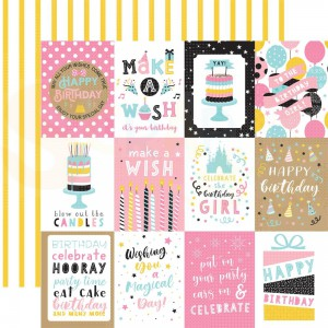 Echo Park Paper, Magical Birthday Girl MBG2313, 3x4 Journaling cards