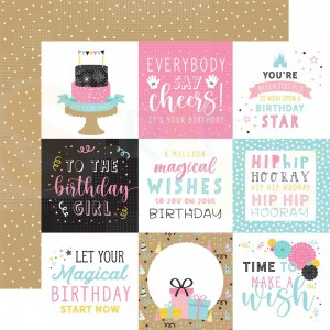 Echo Park Paper, Magical Birthday Girl MBG2317, 4x4 Journaling cards
