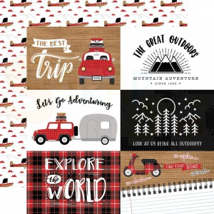 Echo Park Paper, Let's Go Anywhere LGA24212, 6x4 Journaling cards