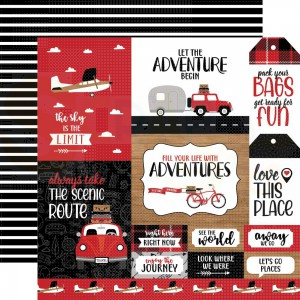 Echo Park Paper, Let's Go Anywhere LGA2426, Multi Journaling cards
