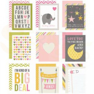 Sn@p baby girl, cards 3x4