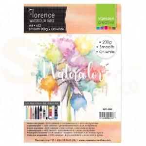 Florence aquarelpapier smooth A4 12 pcs 200 grams, ivoor 2911-2003