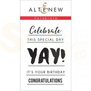Altenew, clearstamp Celebrate