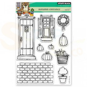Penny Black, clearstamp 30-489 Autumn Entrance