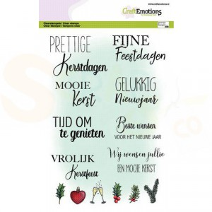 130501/3016, CraftEmotions clearstamp A5, Tekst kerstkaarten (NL)