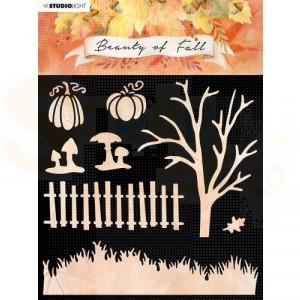 StudioLight, Beauty of Fall stencil, SL-BF-MASK34