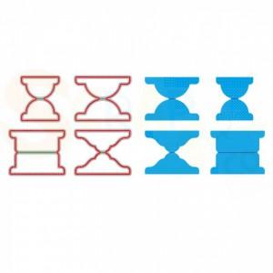 Vaessen Creative snijmal no.3 tabs voor Memorydex, 3624-703