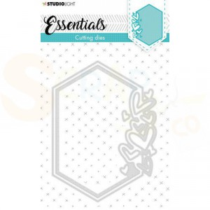 StudioLight, cutting die Hexagon Hearts Essentials nr. 389 STENCILSL389