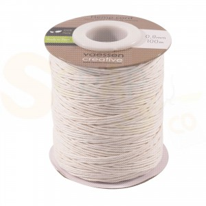 Vaessen Creative, Hemp cord 0,8 mm wit 3908-025