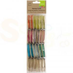 Vaessen Creative, Hemp cord 1 mm 12 kleuren assorti 3908-090
