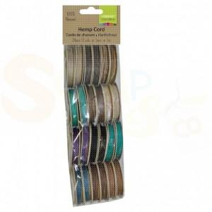 Vaessen Creative, Hemp cord 1 mm 12 kleuren assorti 3908-091