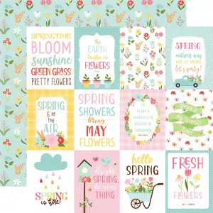 Echo Park Paper, Welcome Spring WES235002, 3x4 Journaling cards