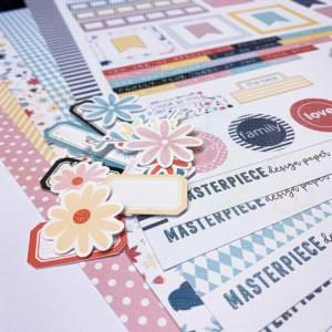 Masterpiece Design, papierpakket 4008, Mini Flower Kit