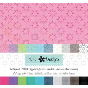 Dini Design Scrappapier, paperpad 15x15 cm, Anker #4009