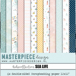 Masterpiece Design, paperpad 4011, Kids collection - Sea Life