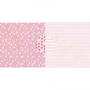 Dini Design Scrappapier, aardbeien strepen #4018