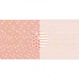 Dini Design Scrappapier, kersen strepen #4019