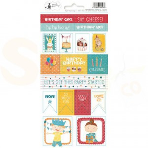 Piatek13, Sticker sheet P13-418 Happy Birthday 02