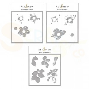 Altenew, Stencil, Beauty Within Simple Coloring ALT4368