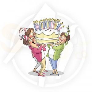 Art Impressions, U4386 Giant Cake