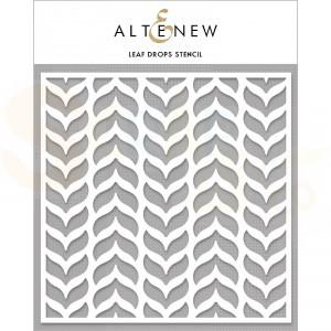 Altenew, Stencil, Leaf drops ALT4472